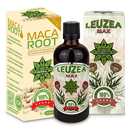 Cvetita Herbal, Leuzea carthamoides + raíz de Maca, natural ...