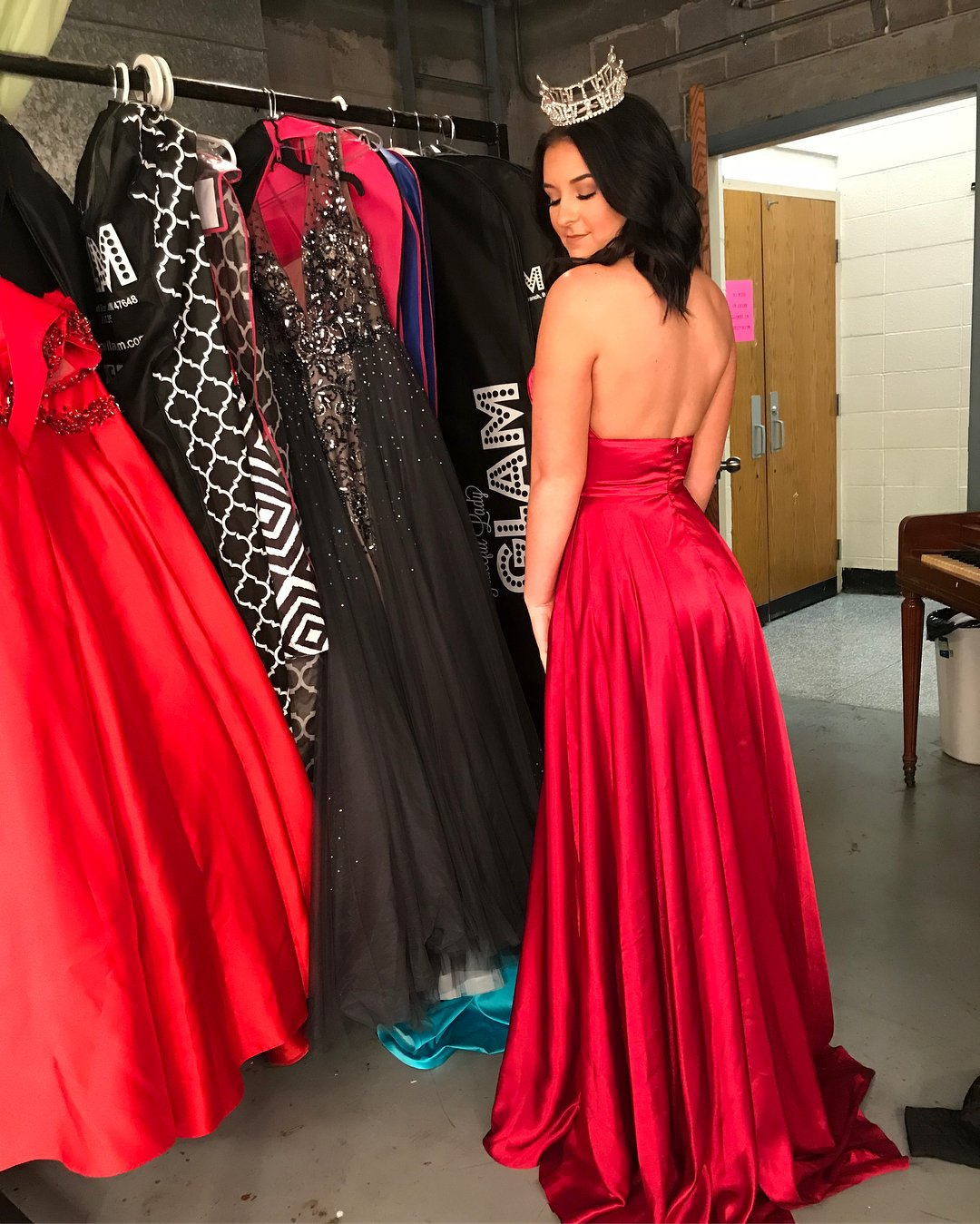 Dressylady Sexy Halter Backless Leg Slit Long Prom Dress Evening Party Gowns at Amazon Womens Clothing store: