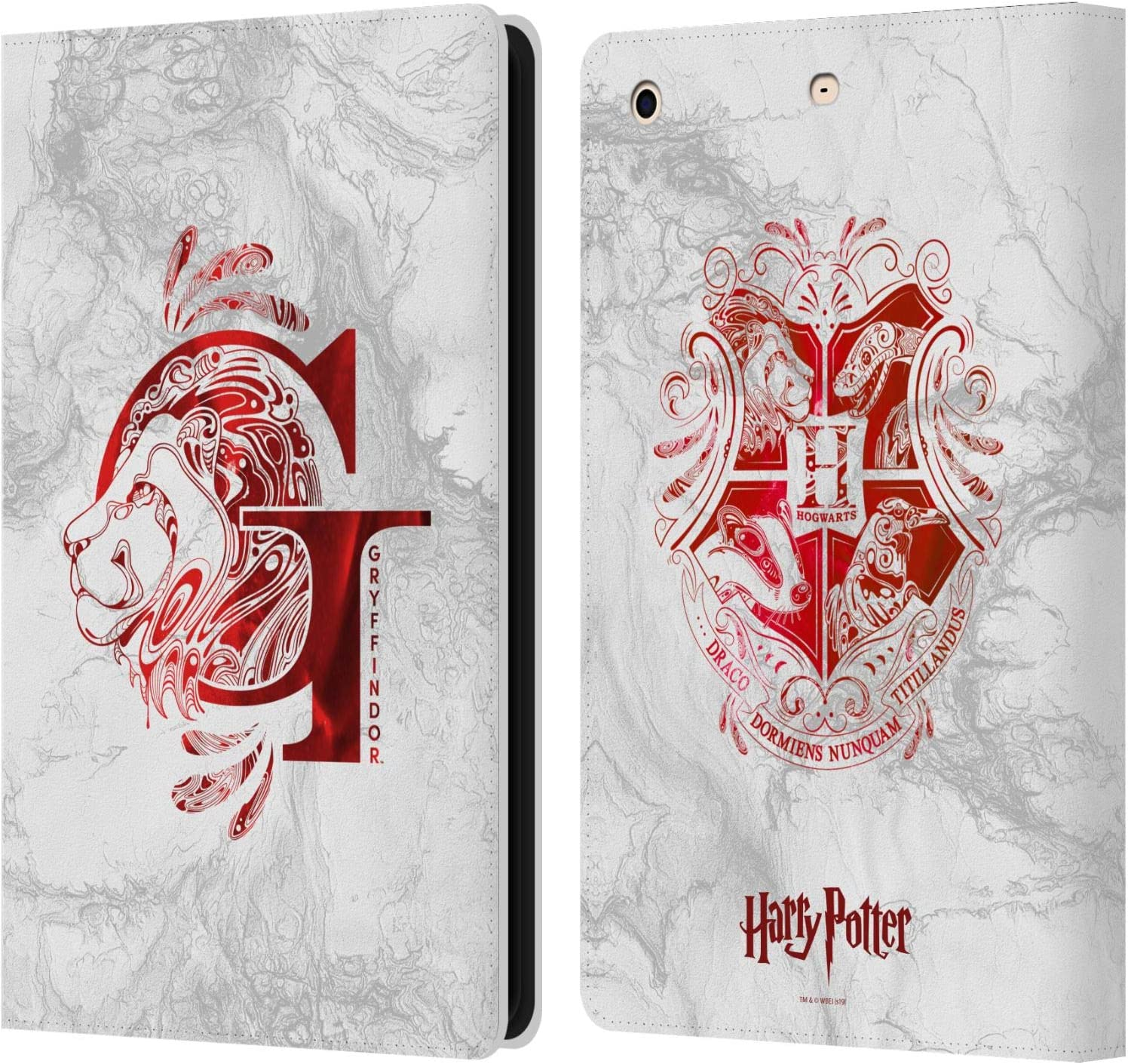 Head Case Designs Officially Licensed Harry Potter Gryffindor Aguamenti Deathly Hallows IX Leather Book Wallet Case Cover Compatible with Apple iPad Mini 1 / Mini 2 / Mini 3