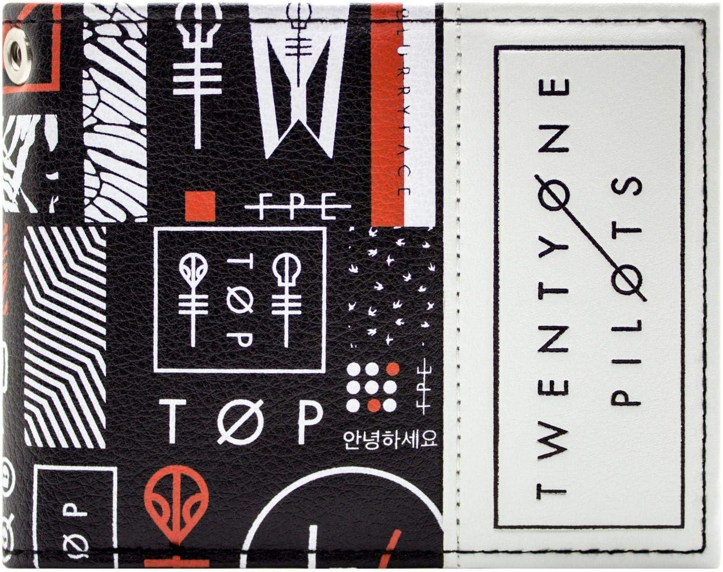 Twenty One Pilots Symboles Squelette Blurryface Clique Noir Portefeuille