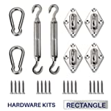 Windscreen4less Sun Shade Sail Hardware Kit - 6