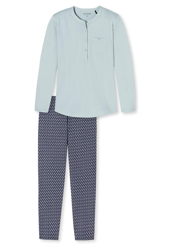 Schiesser Anzug Lang-Pijama Mujer verde lima: Amazon.es: Ropa y accesorios