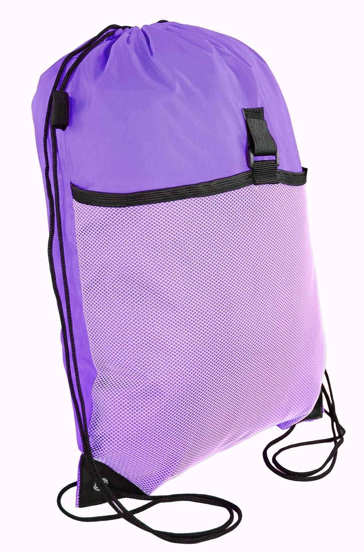 Wholesale Drawstring Backpacks Drawstring Cinch Bag Backpack With Mesh Pocket