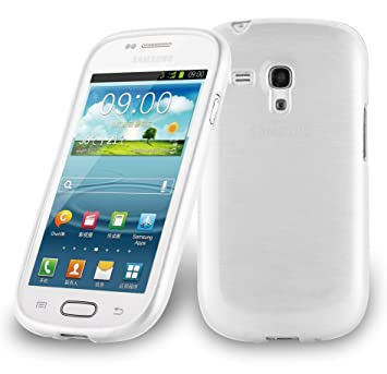 Cadorabo de de 104556 Samsung Galaxy S3 Mini (i8190) Funda Carcasa de TPU Silicona en Aspecto Acero Inoxidable Cepillado (Pulido), Color Plateado