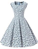 Dresstells 50er Retro Audrey Hepburn Schwingen Pinup Polka Dots Rockabilly Kleid