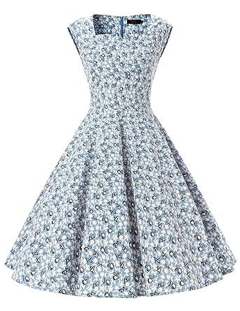 Blaues kleid 50er