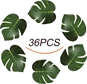 "Jesries 8"" Tropical Palm Leaves Simulation Imitation Leaf for Hawaiian Luau Party Jungle Beach Theme Decorations"