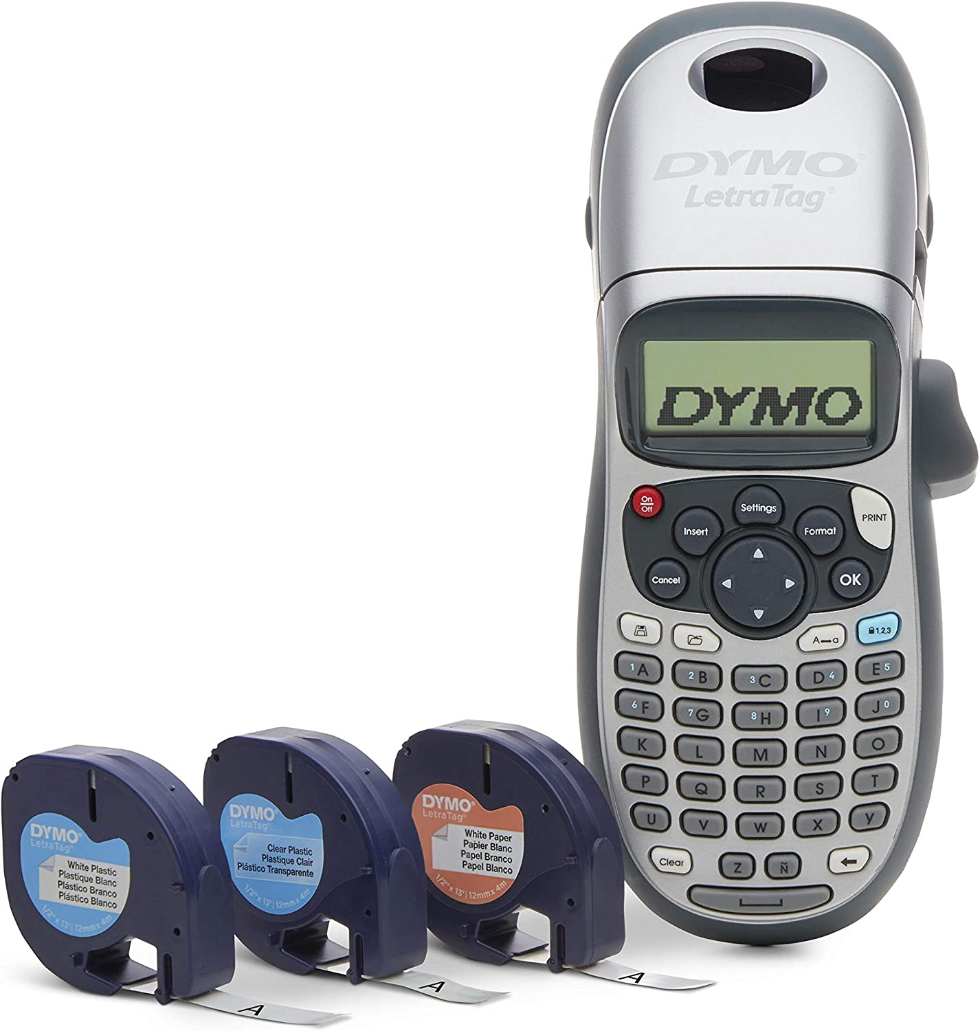 DYMO LetraTag LT-100H Handheld Label Maker for Office or Home (1749027), Colors May Vary, Silver : Electronics