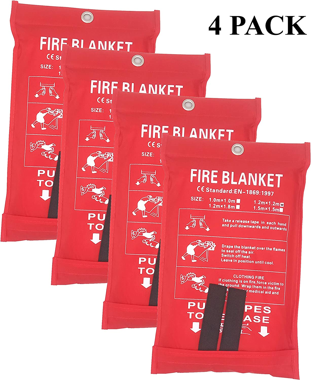 chimenea oficina coche Manta ign/ífuga de emergencia ign/ífuga almac/én 2 unidades de 1,2 x 1,2 m cubierta de seguridad para cocina manta de emergencia