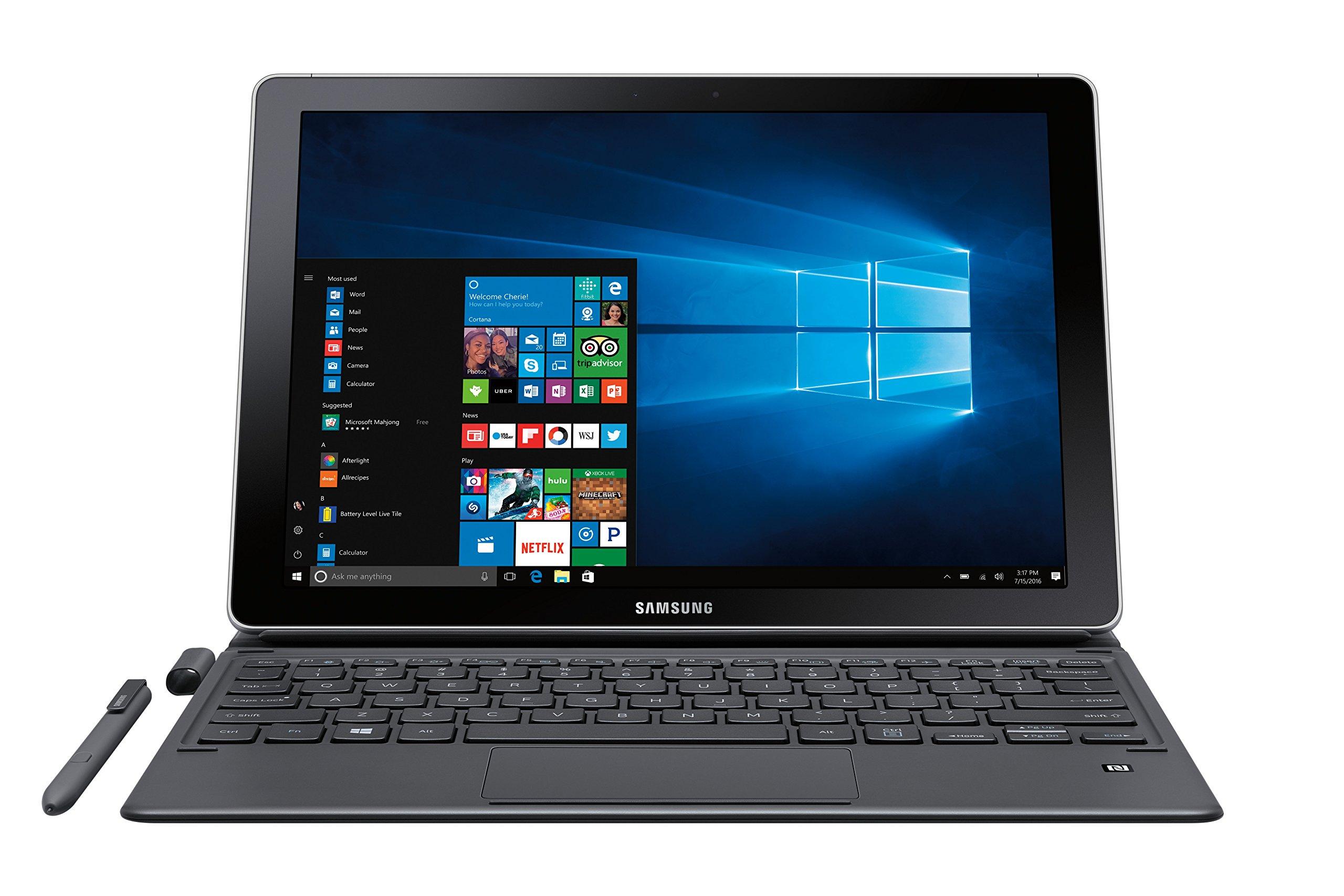 """Samsung Galaxy Book 12"""" Windows 2-in-1 PC (Wi-Fi) Silver, 8GB RAM/256GB SSD, SM-W720NZKAXAR by Samsung (Image #4)"""