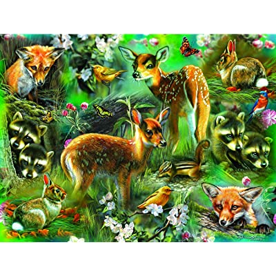 Forest Critters 500 pc Jigsaw Puzzle by SunsOut: Toys & Games