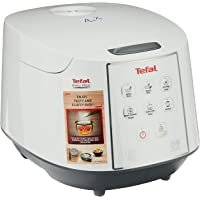 Tefal RK7321 Easy Rice Cooker Fuzzy Logic with Spherical Pot, 1.8L (Pack of 4) White