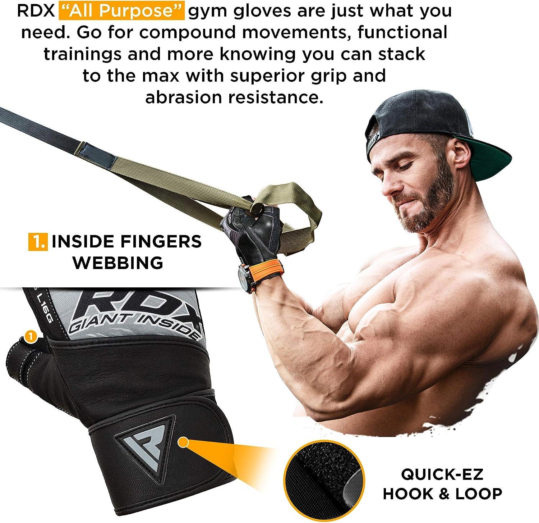 RDX Fitness Cuero Muñequeras Levantamiento Pesas Musculacion Gimnasio