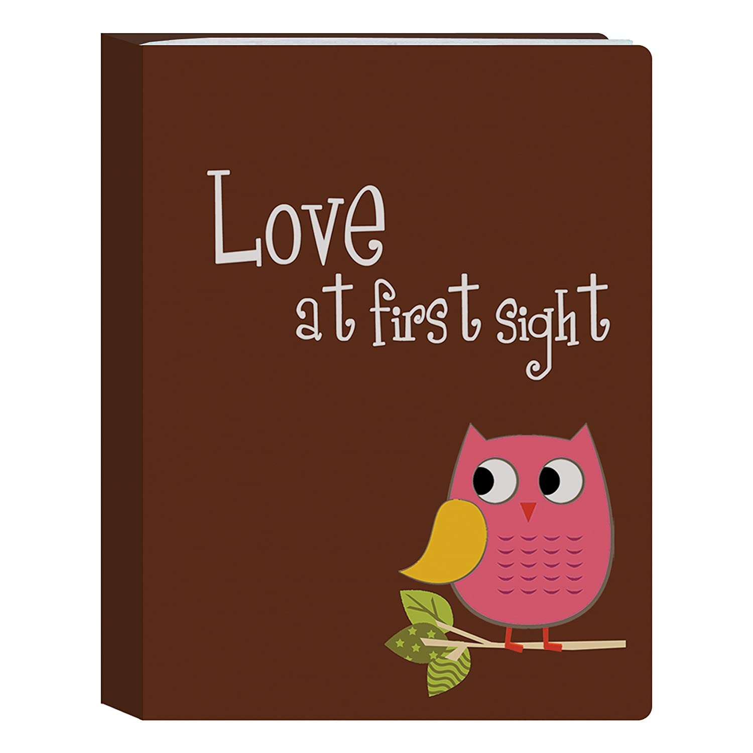 Pioneer Photo Albums I-46B/O 36-Pocket Baby Owl Designer Photo Album, Pink Inc I-46B/OP