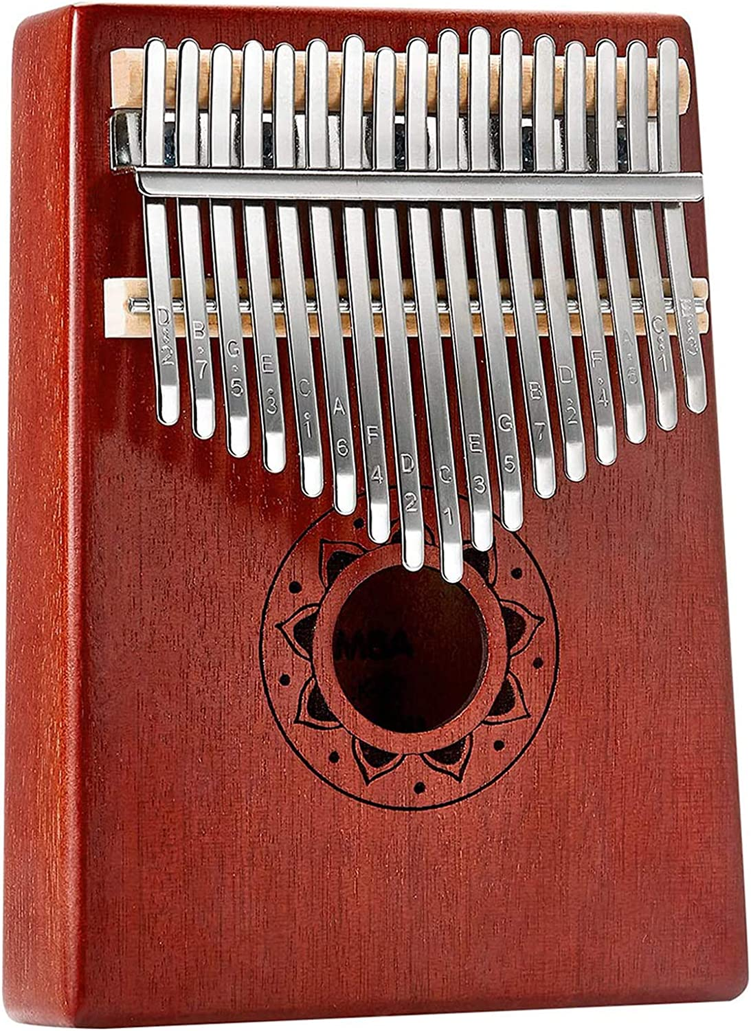 Kinbelle Kalimba 21 Keys Thumb Piano Upgraded version with Study Instruction and Tune Hammer Gift for Kids Adult Beginners Portable Solid African Wood Finger Piano