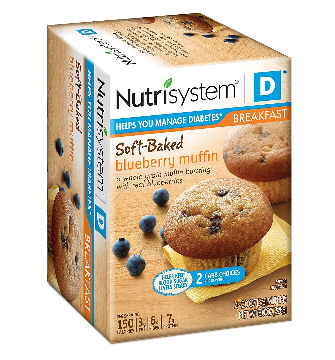 Nutrisystem ® D® Blueberry Muffin, 8 count by Nutrisystem Everyday, LLC (Image #1)