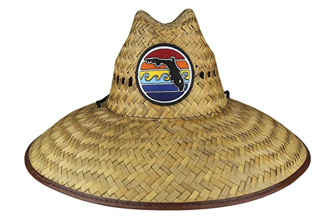 The Florida Sunset Wide Brim Straw Lifeguard Hat travel product recommended by Grace Shao on Lifney.