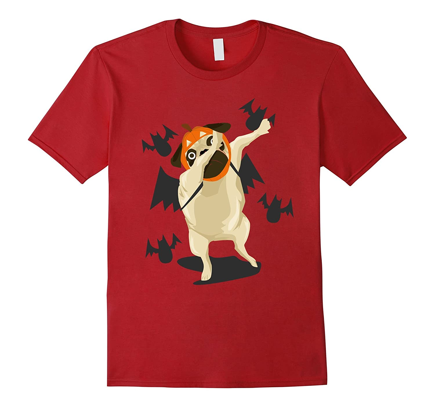 Dabbing Pug Halloween Costume Funny Dog Lover Graphic Tshirt-ANZ