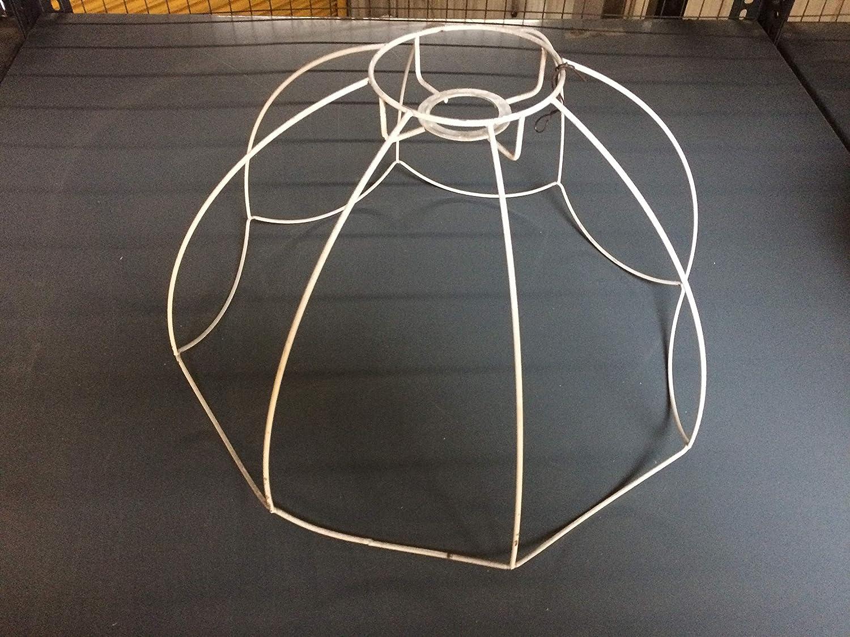 stile vintage Paralume con struttura in metallo 42 cm Licht-erlebnisse bianco colore: Bianco