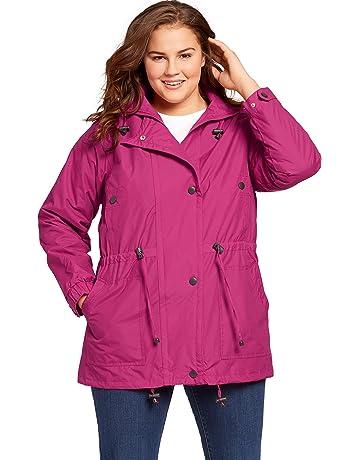 80bf31cc554 Woman Within Plus Size Women s Plus Size Fleece-Lined Taslon Anorak