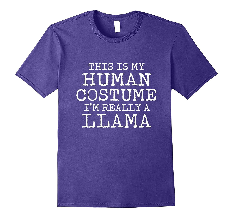 LLAMA Halloween Costume shirt Easy for Men Women-TJ