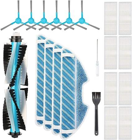 Isincer Kit de Accesorios de Repuesto Compatible con la aspiradora Robot Conga 1290/1390 (1 Cepillo Principal + 8 Juegos de filtros Hepa + 6 cepillos Laterales + 4 Piezas de Ropa para trapeador): Amazon.es: Hogar