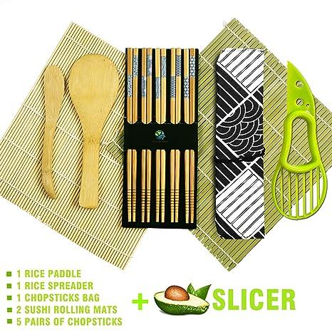 Amazon.com: Sushi Making Kit – Kit de rodillo natural de ...