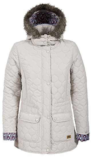 Trespass Jenna Womens Quilted Jacket In Navy Purple White