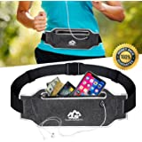 LuKaiSen Running Belt Fanny Pack for Women Men Waist Bag Sport Accessories Workout Comfortable Adjustable Water Resistant Pouch Jogging Hiking Cycling Fitness Travel for iPhone X 6 7 8 Plus Samsung