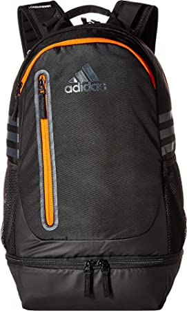 adidas Unisex Pivot Team Backpack Black Collegiate Orange One Size ... 2e3747b5e4ada