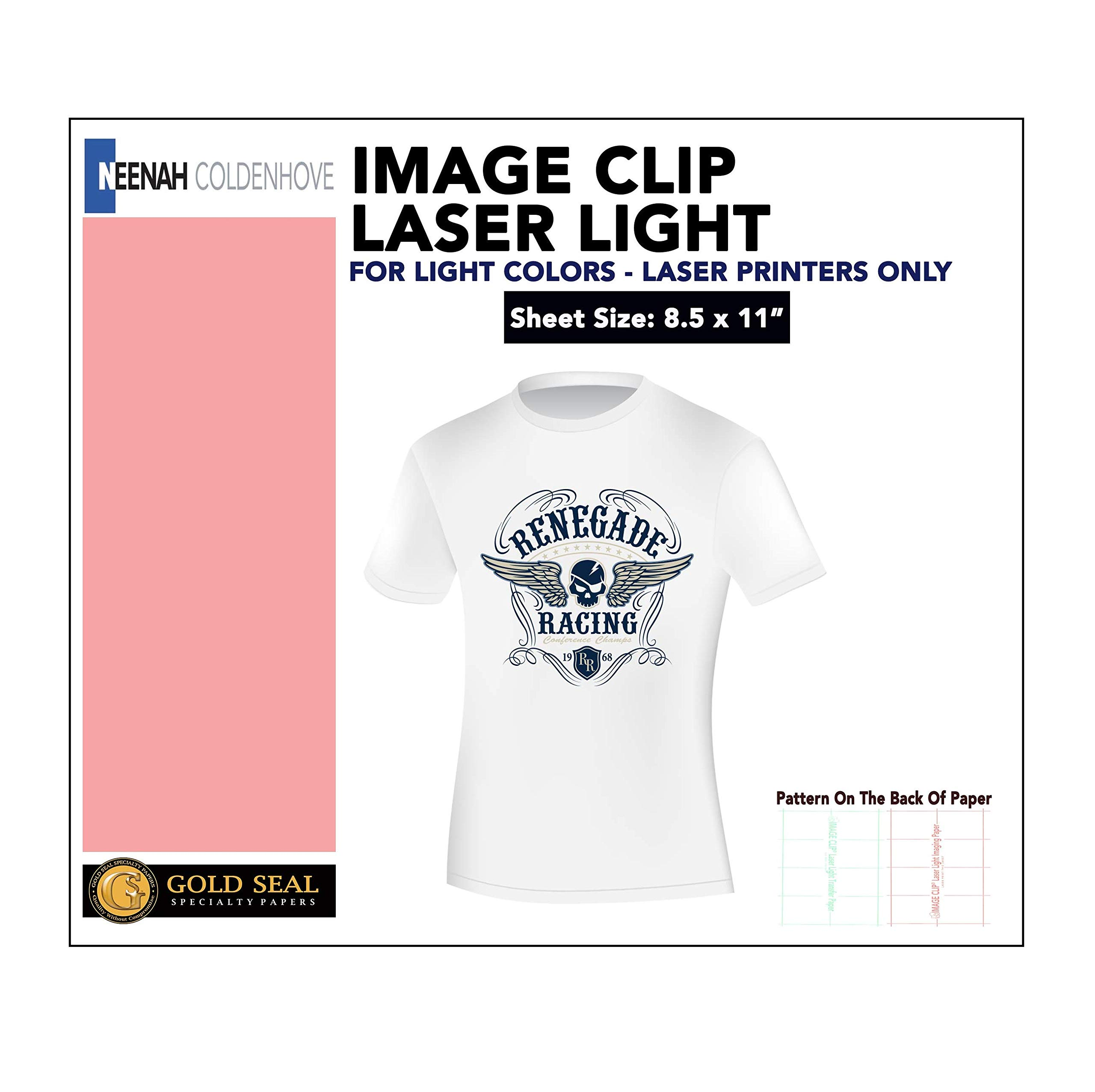 IMAGE CLIP Laser Light Heat Transfer Paper 8.5x11 (100 Sheets) by world-paper
