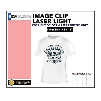 image relating to Laser Printable Heat Transfer Vinyl named Laser Warmth Go Paper For Laser Printers 8.5x11 (50 Sheets)