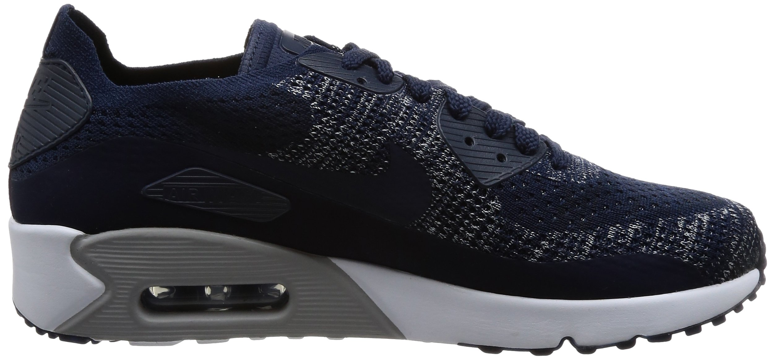 NIKE Mens Air Max 90 Ultra 2.0 Flyknit College/Navy/College/Navy Running Shoe 9.5 Men US
