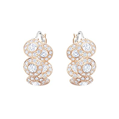 a0a5269b4 Swarovski Angelic Hoop Pierced Earrings, White, Rose gold plating:  Amazon.co.uk: Jewellery