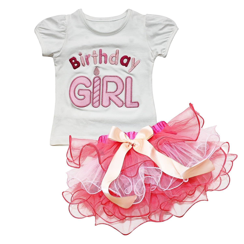 iEFiEL Baby Mädchen Kleidung Set 2tlg. Top T-shirt Tutu Pettiskirt ...