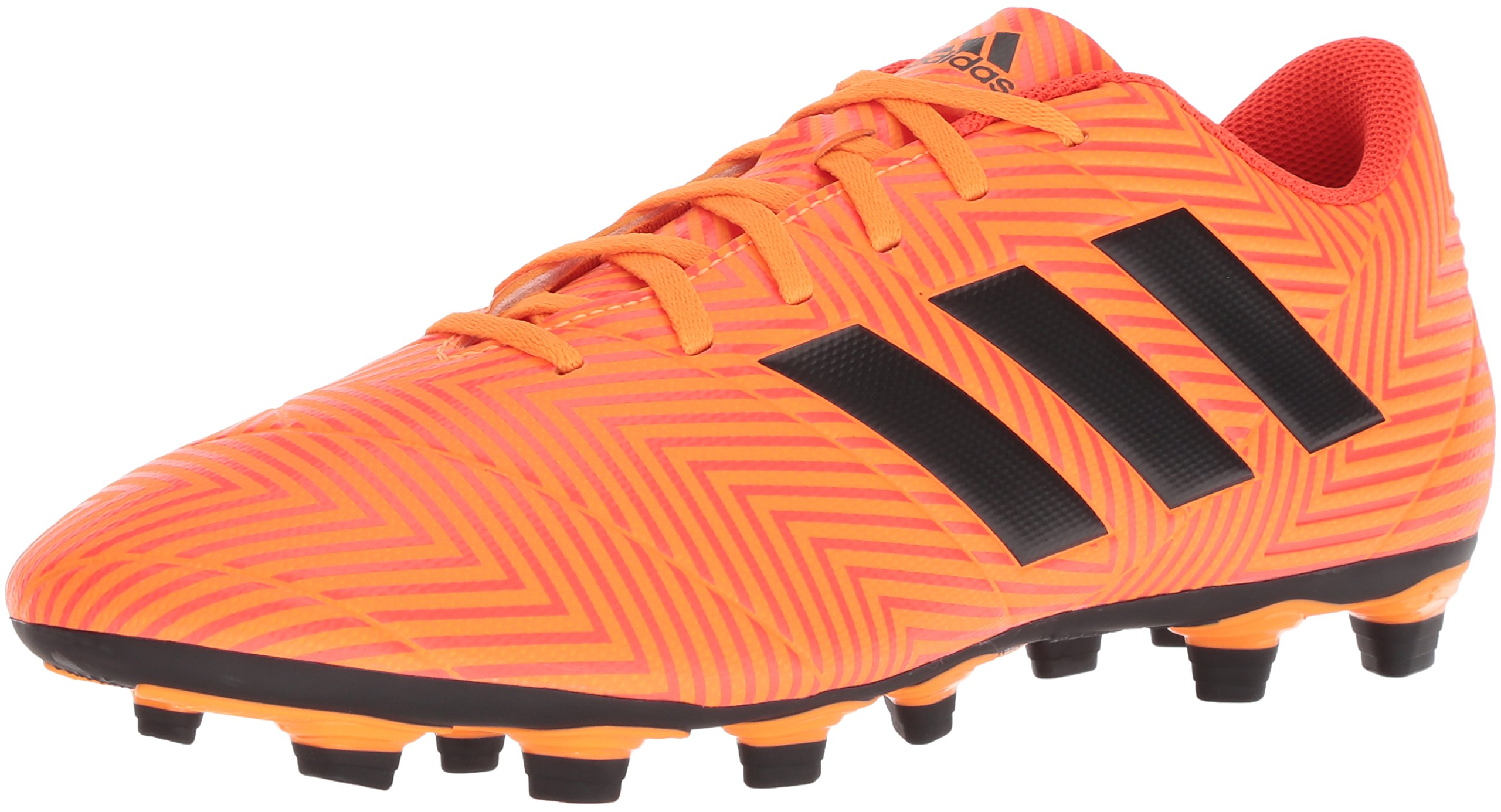 adidas Men's Nemeziz 18.4 Firm Ground Soccer Shoe, Zest/Black/Solar Red, 9 M US