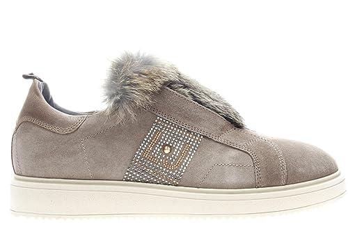 Zapatillas casual mujer piel taupe Liu Jo UB23326: Amazon.es: Zapatos y complementos