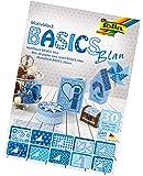 Bringmann folia 46449 - Motivblock Basics, 24 x 34 cm, 30 Blatt sortiert, blau