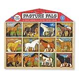 Melissa & Doug Children's Pasture Pals Collectible Horses, 12-Pieces