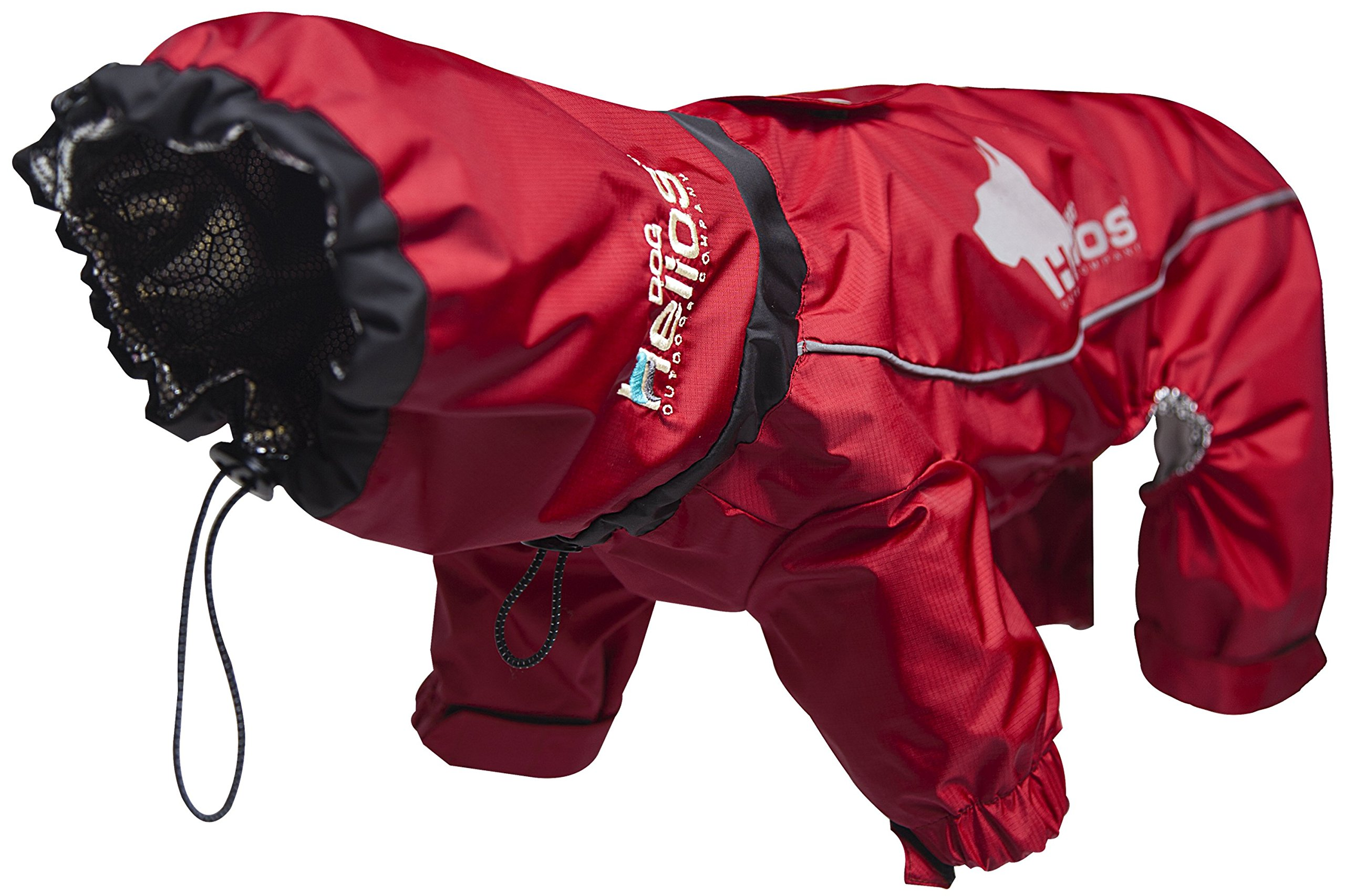 DogHelios Weather-King' Windproof Waterproof and Insulated Adjustable Full Bodied Pet Dog Jacket Coat w/Heat Retention Technology, Large, Red