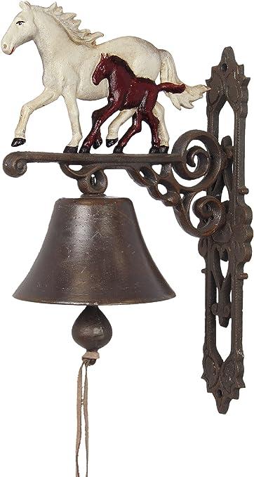 Campana de pared jardín campana caballos Haras Ferroviaire Box caballos hierro fundido hierro hierro campana Metal campana campana de barco antiguo marrón rústico granja la campana: Amazon.es: Hogar