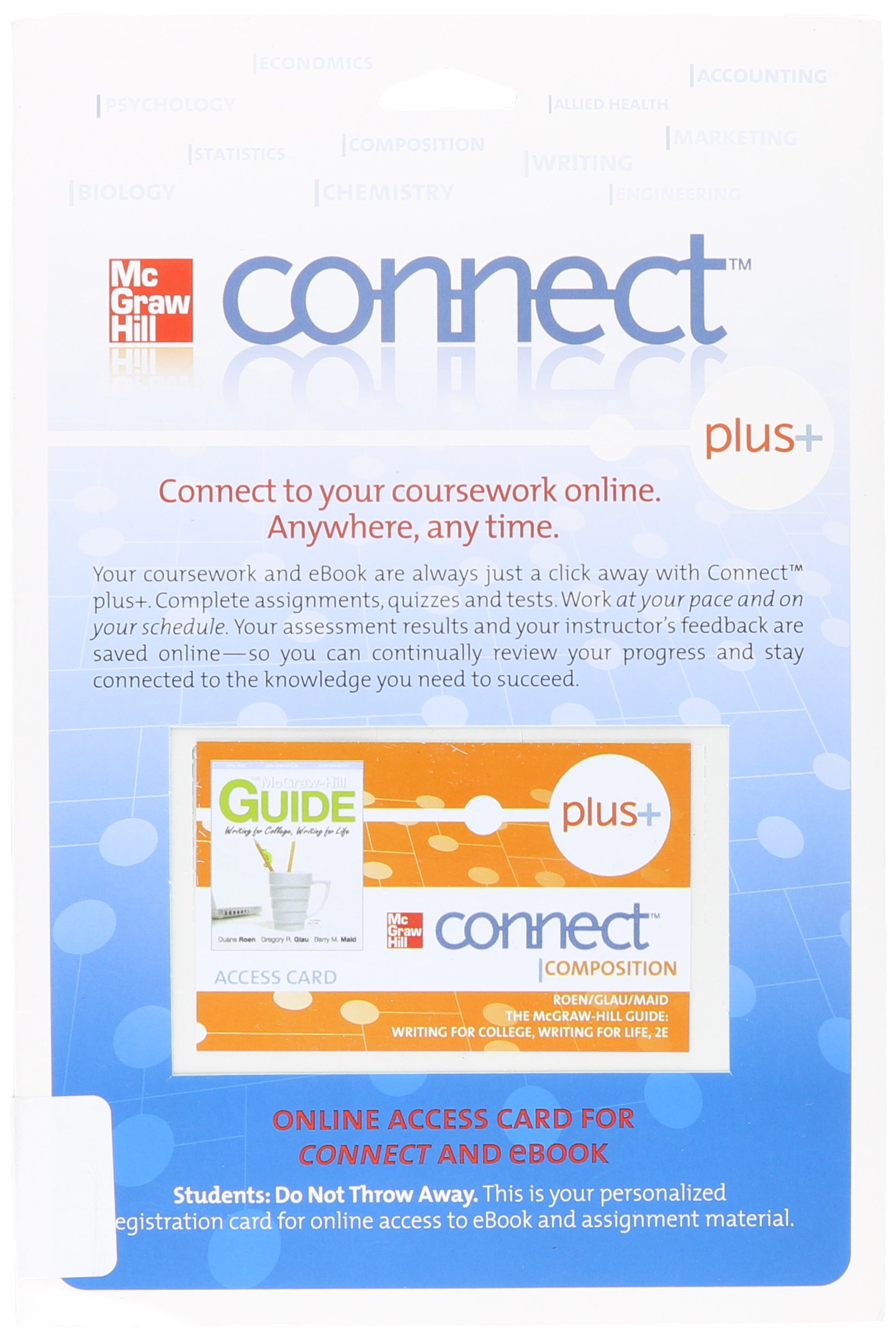 Access Code Connect Card For Mcgraw Hill Guide: Writing For College,  Writing For Life: Mcgraw Hill: 9780077380960: Amazon: Books