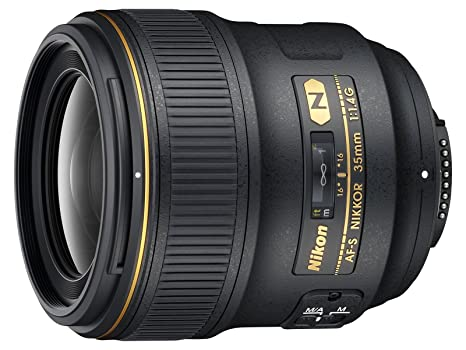 Nikon AF FX NIKKOR 35mm f/1.4G Fixed Focal Length Lens with Auto Focus for Nikon DSLR Cameras Camera Lenses at amazon