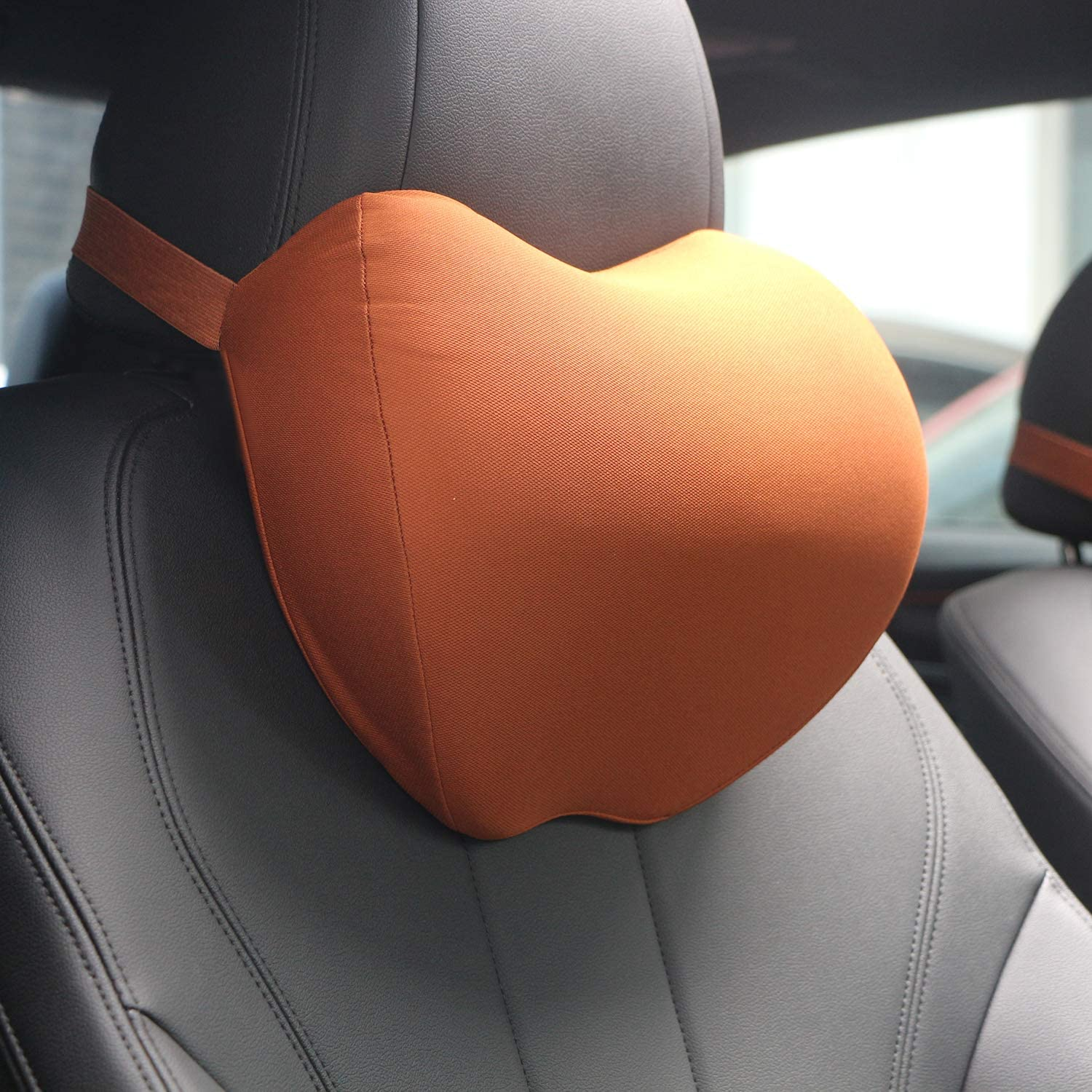 Balanced Softness Memory Foam Travel Pillow Headrests for Car Designed to Relieve Neck Pain and Muscle Tension,Blue Dreamer Car Head Pillow for Car with Adjustable Strap for Car Seat