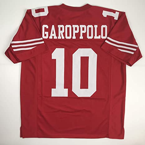 Image Unavailable. Image not available for. Color  Unsigned Jimmy Garoppolo  San Francisco Red Custom Stitched Football Jersey ... 7743d8df8