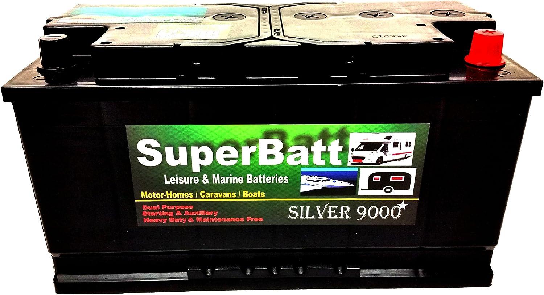 Marine Boat Leisure Battery 12V 100AH SuperBatt LM100 Battery Caravan Motorhome