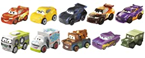 Disney Pixar Cars Mini Racers, 10 Pack