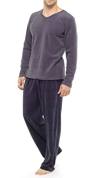 590d80133e Tom Franks da Uomo in Pile Top e Pantaloni a Quadri Set Pigiama Grey L:  Amazon.it: Abbigliamento