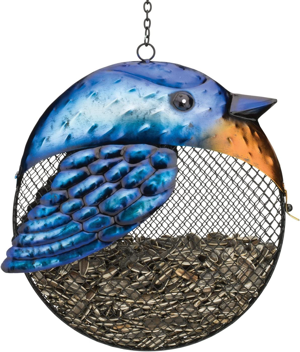 Regal Art & Gift Blue Jay Fat Bird Seed Feeder Holds 1 Pound of Seed