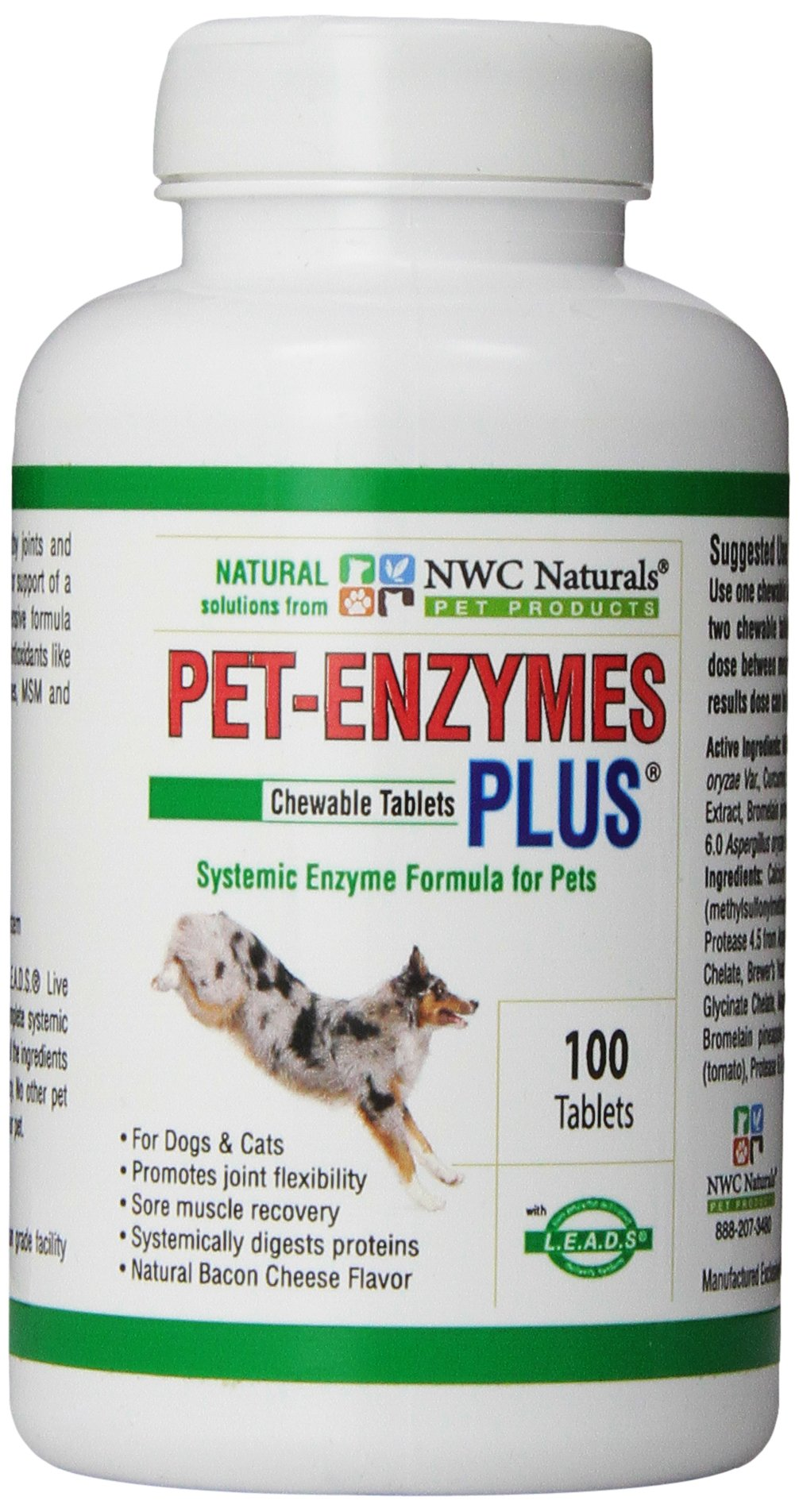 NWC Naturals Pet-Enzymes Plus Joint and Allergy Formula for Dogs and Cats
